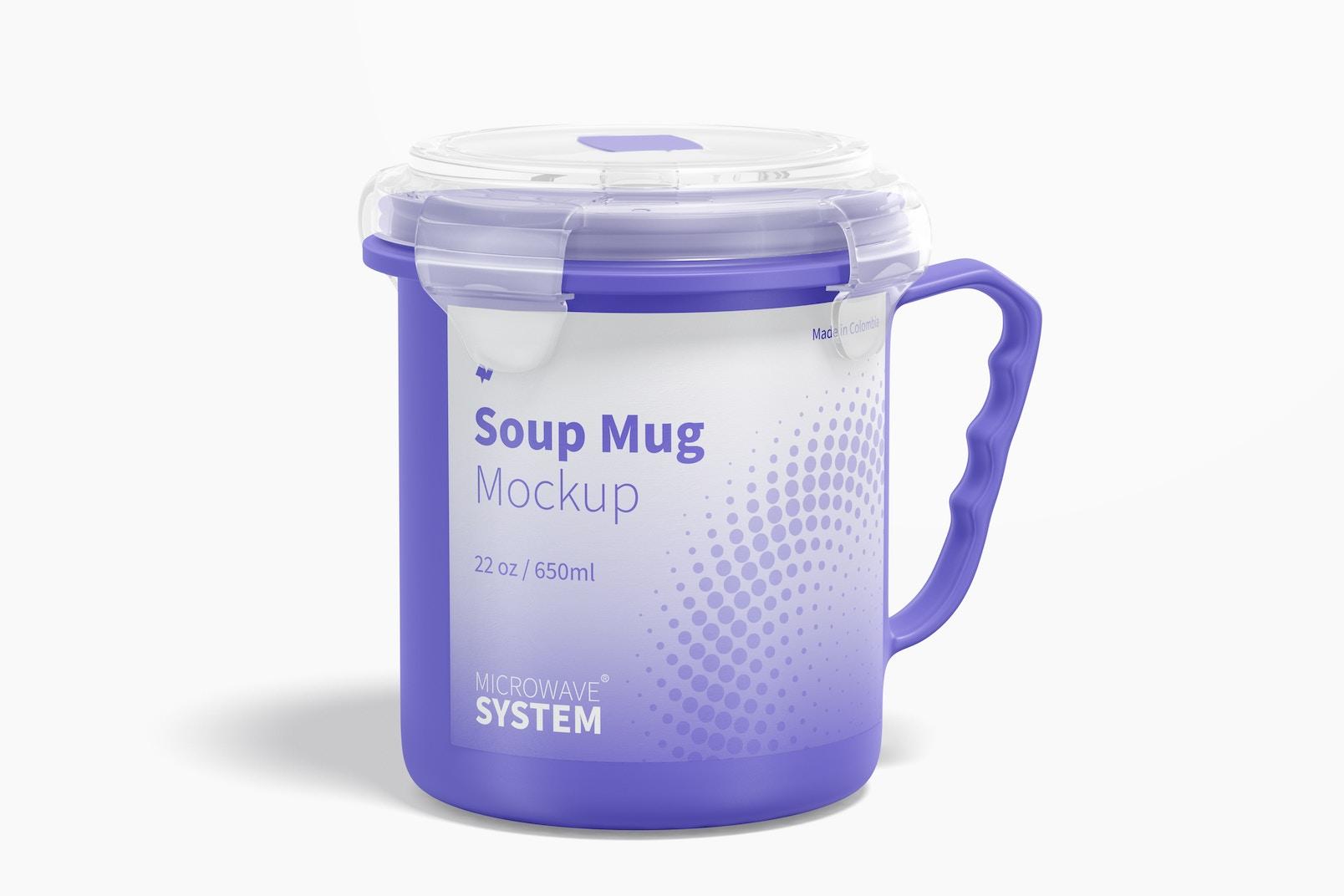 22 oz Soup Mug Mockup