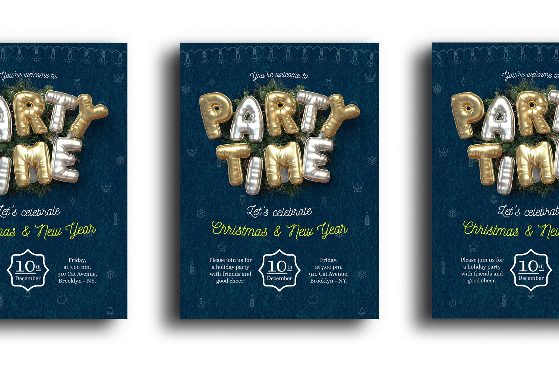 Balloon Party, Christmas Flyer Template 1 (1) by Original Mockups on Original Mockups