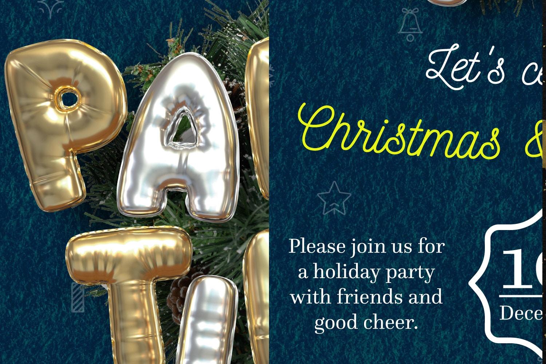 Balloon Party, Christmas Flyer Template 1