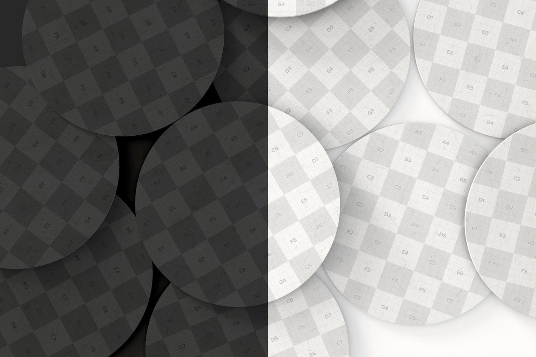 Round Coaster Mockup 01 - Smart Objects - Original Mockups