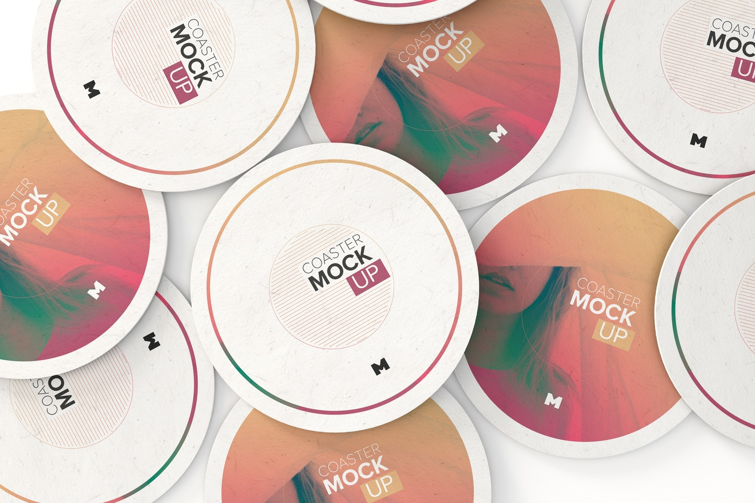 Round Coaster Mockup 01 by Original Mockups on Original Mockups