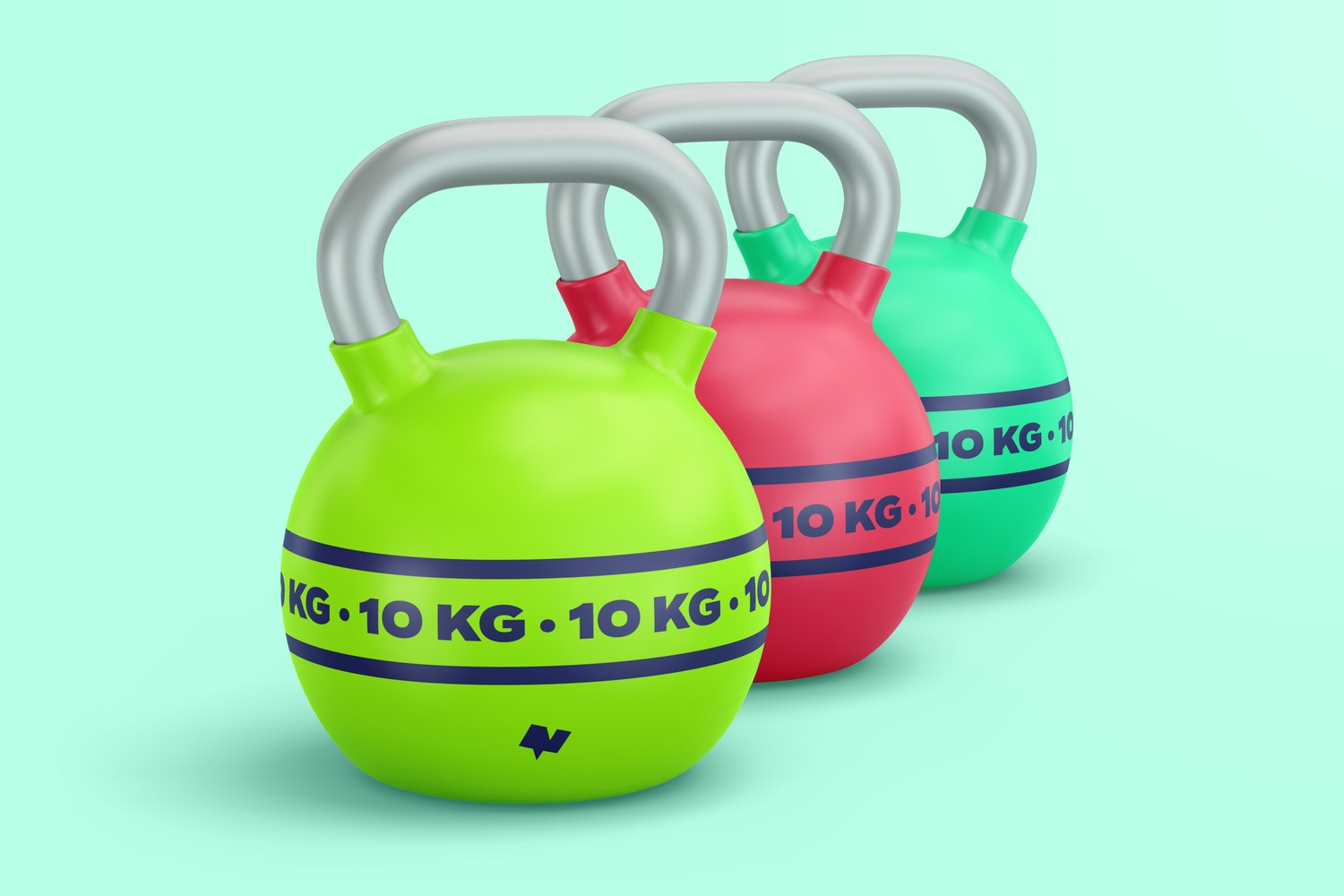 Take advantage of the lighting and let it help you by brightening the right angles. See how the grip area of the kettlebell shines.