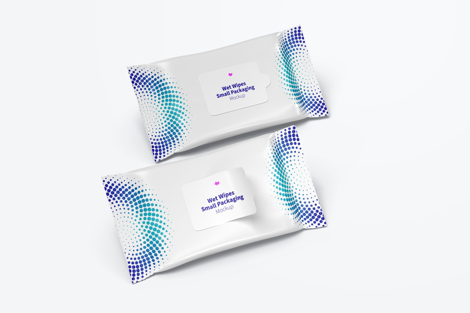 Wet Wipes Small Packaging Mockup, Right View