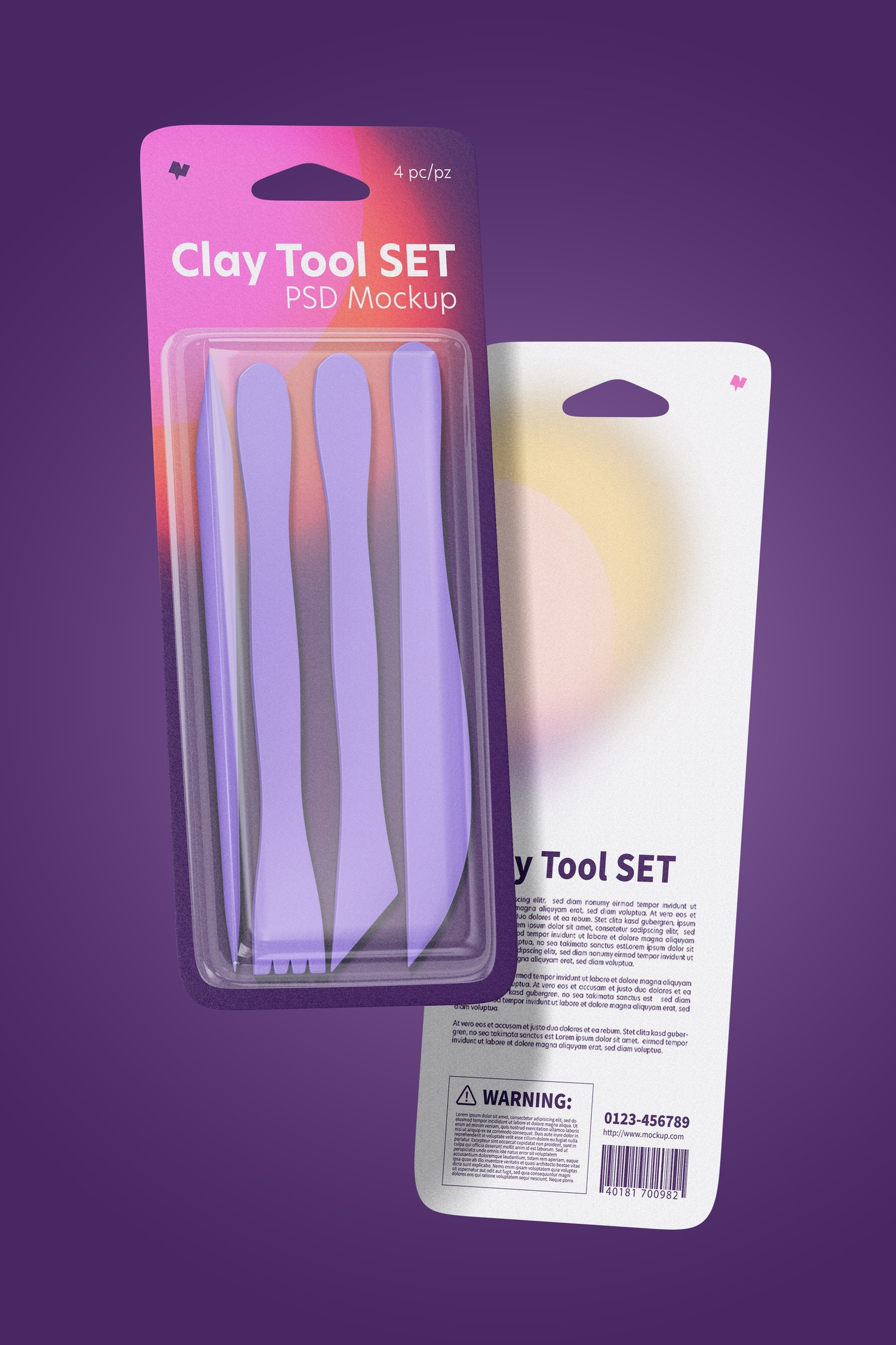 Clay Tool Set Mockup, Floating