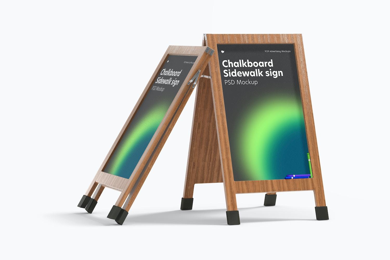 Chalkboard Sidewalk Signs Mockup