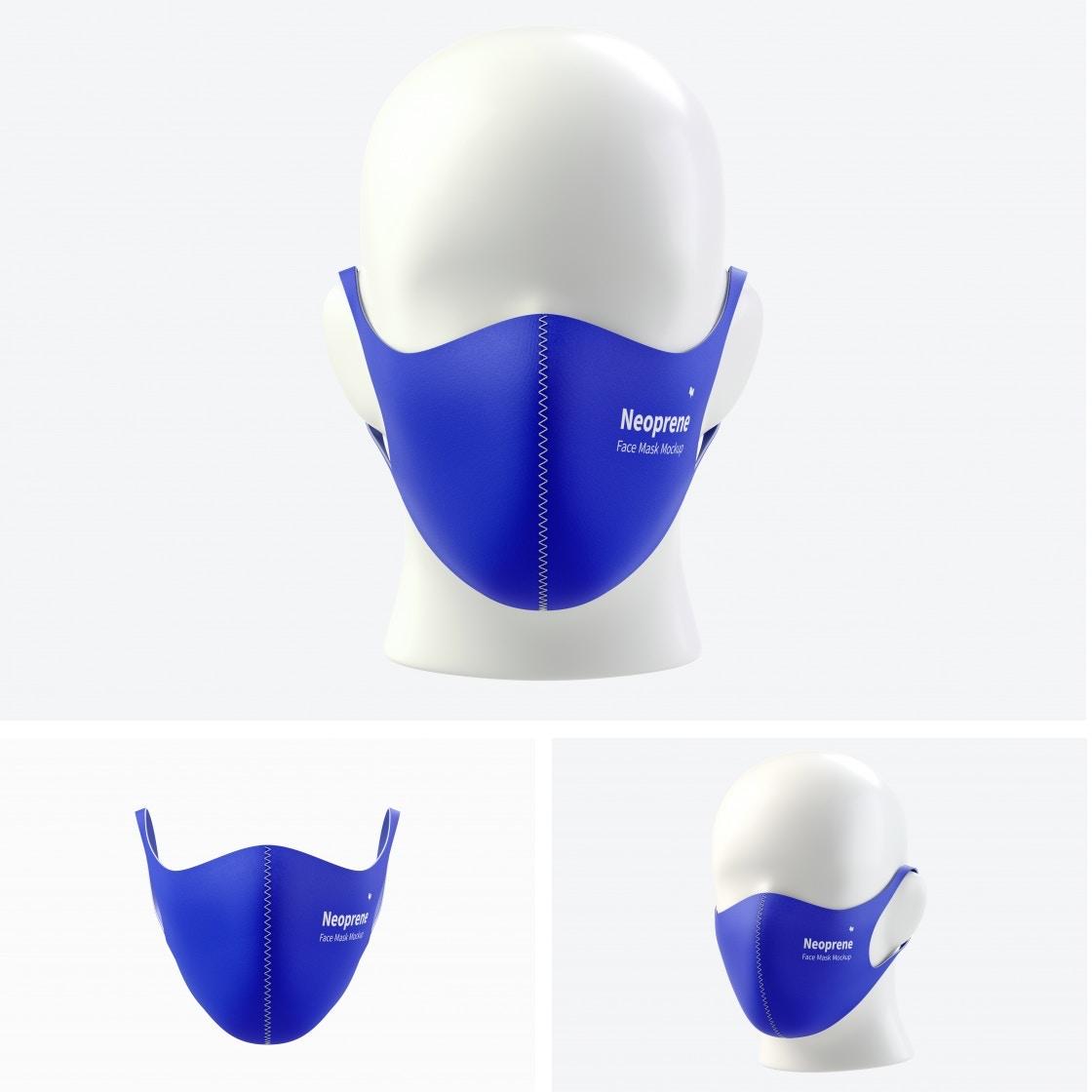Neoprene Guard Face Mask Mockups Poster
