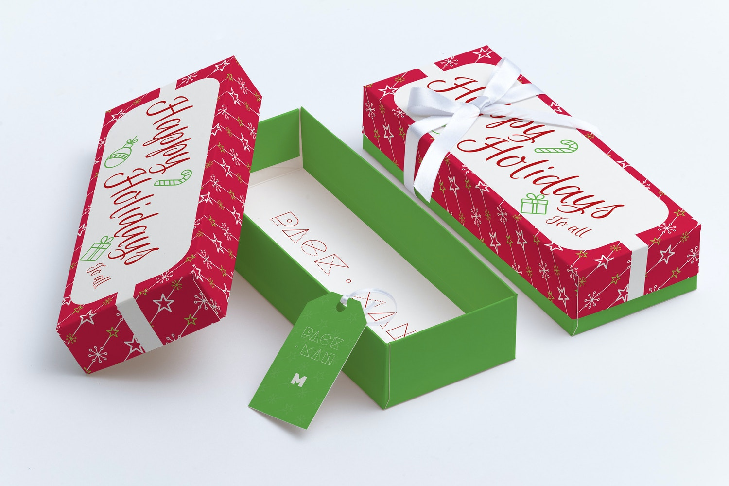 Rectangular Gift Box Mockup 03 by Ktyellow  on Original Mockups