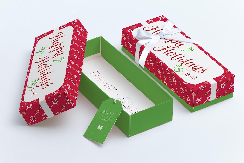 Rectangular Gift Box Mockup 03