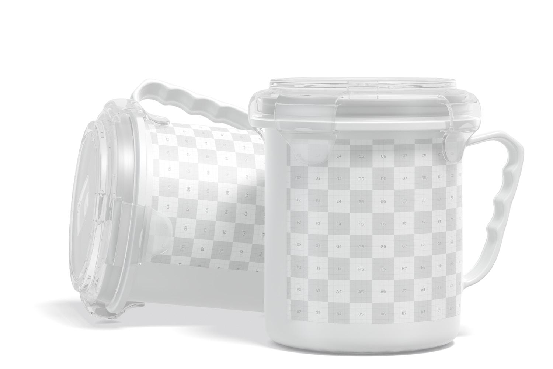 22 oz Soup Mugs Mockup