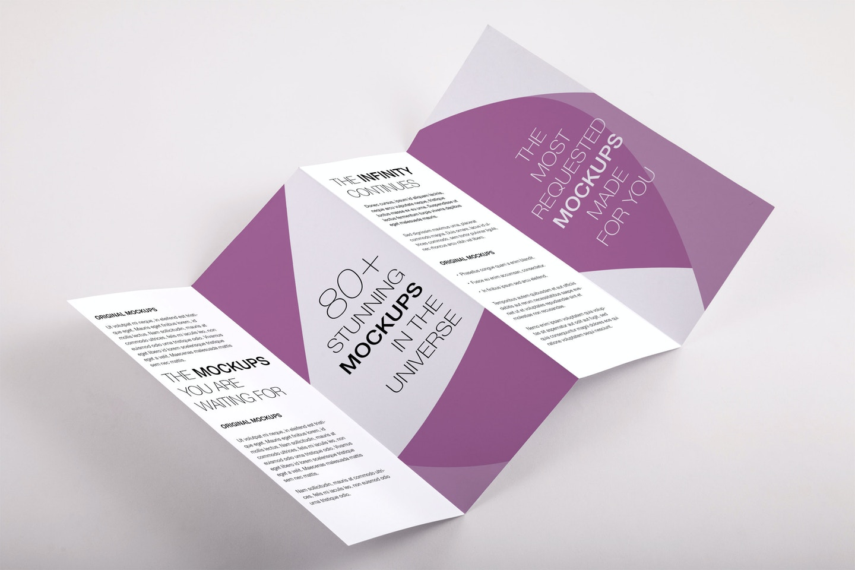 Legal Quadfold Brochure PSD Mockup 01