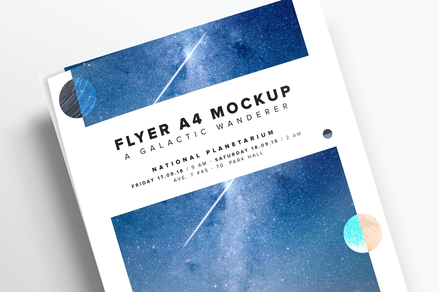 Flyer Close-Up Mockup by Original Mockups on Original Mockups