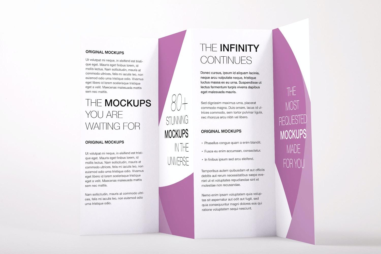 Legal Quadfold Brochure PSD Mockup 02 por Original Mockups en Original Mockups