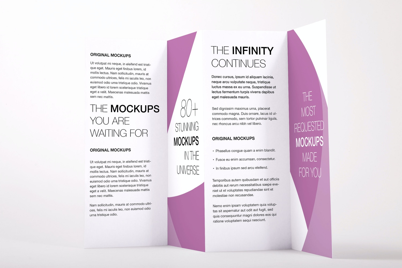 Legal Quadfold Brochure PSD Mockup 02 by Original Mockups on Original Mockups