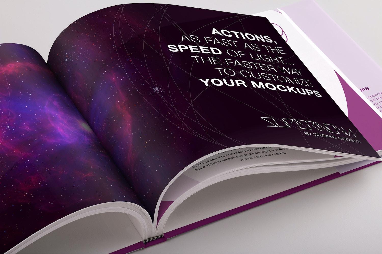 Hardcover Standard Landscape Book PSD Mockup 03