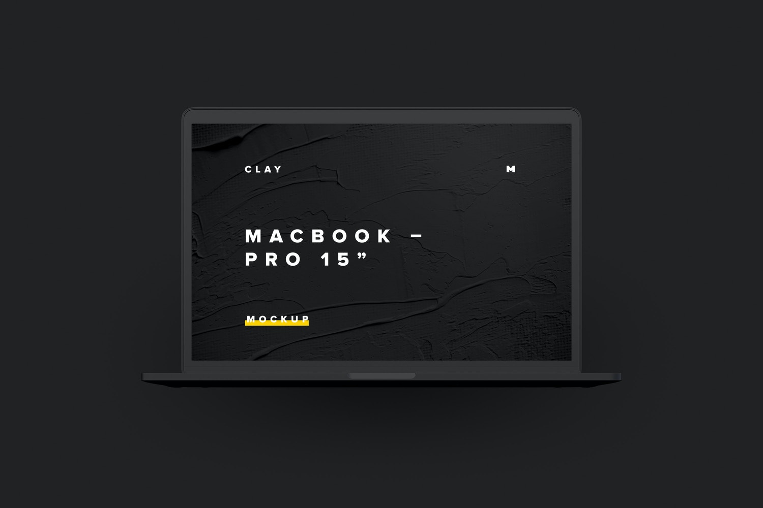 "Clay MacBook Pro 15"" with Touch Bar, Front View Mockup (6) by Original Mockups on Original Mockups"