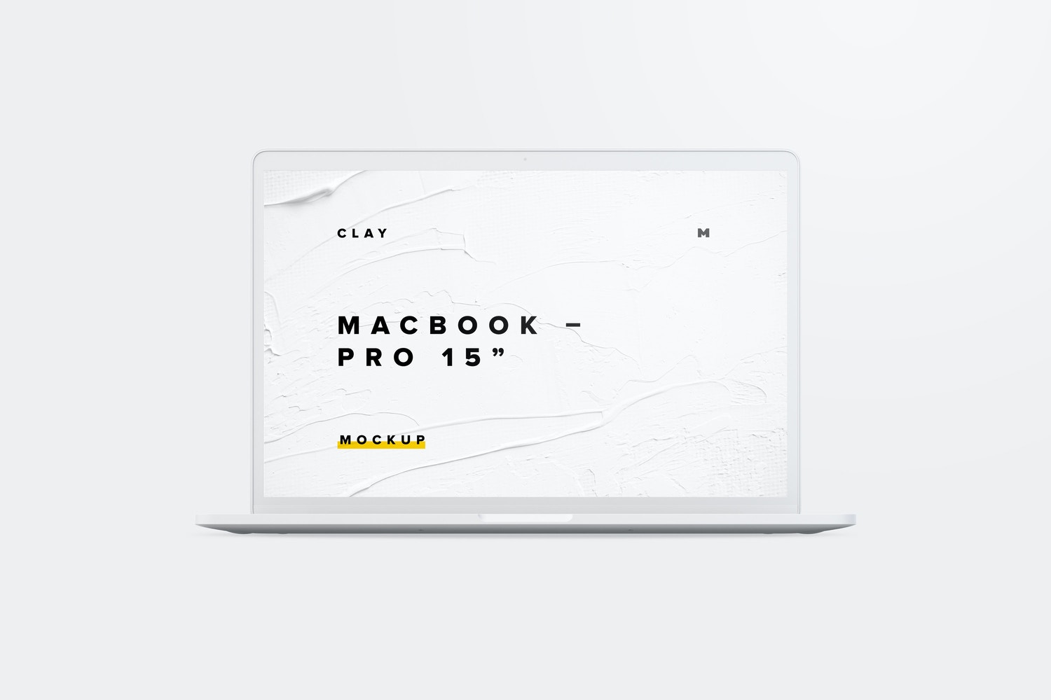 "Clay MacBook Pro 15"" with Touch Bar, Front View Mockup (1) by Original Mockups on Original Mockups"