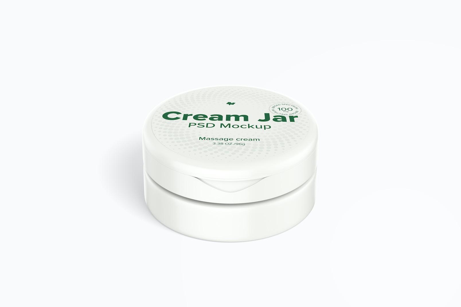 3.38 oz Cream Jar Mockup