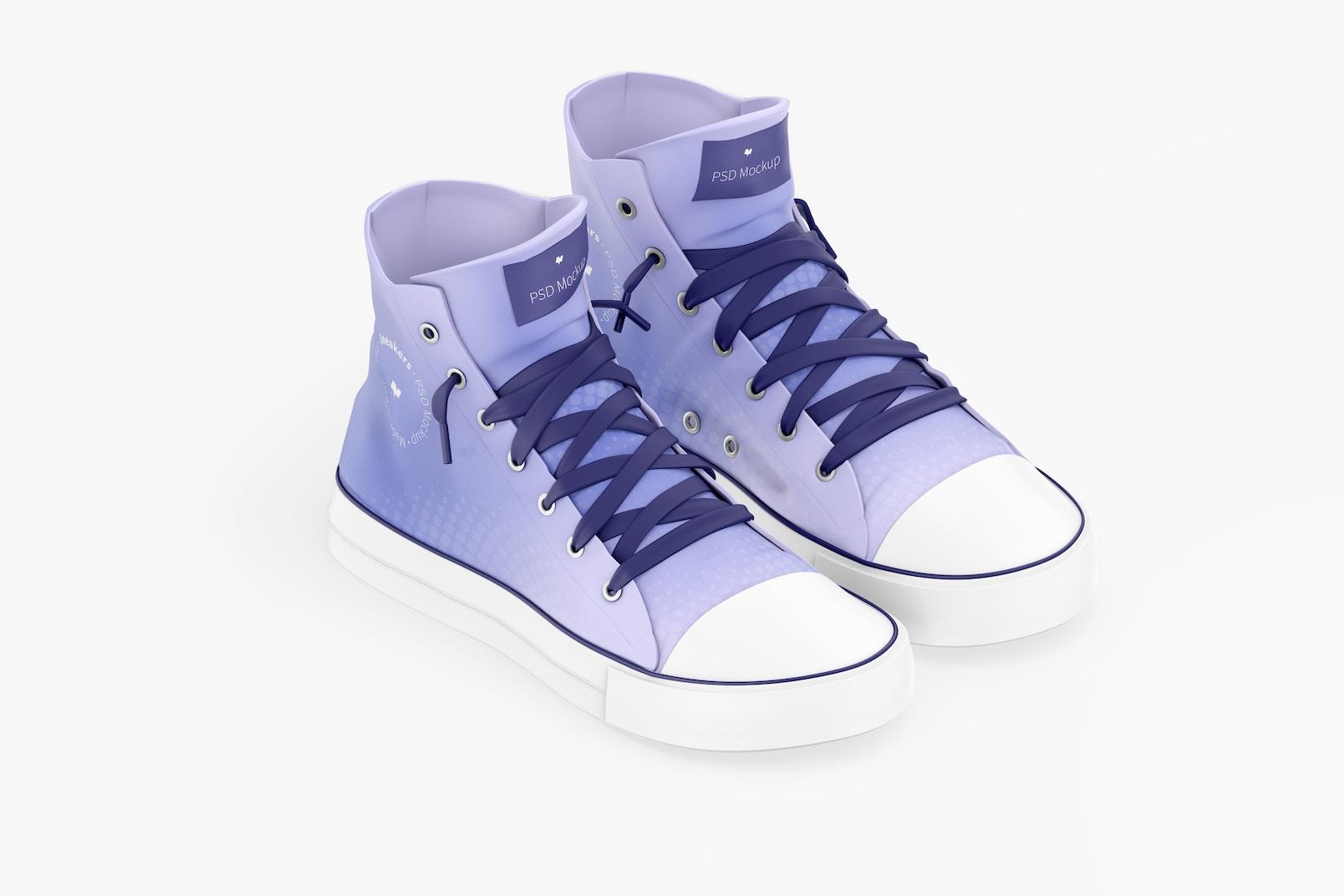 Sneakers Mockup, Isometric Left View