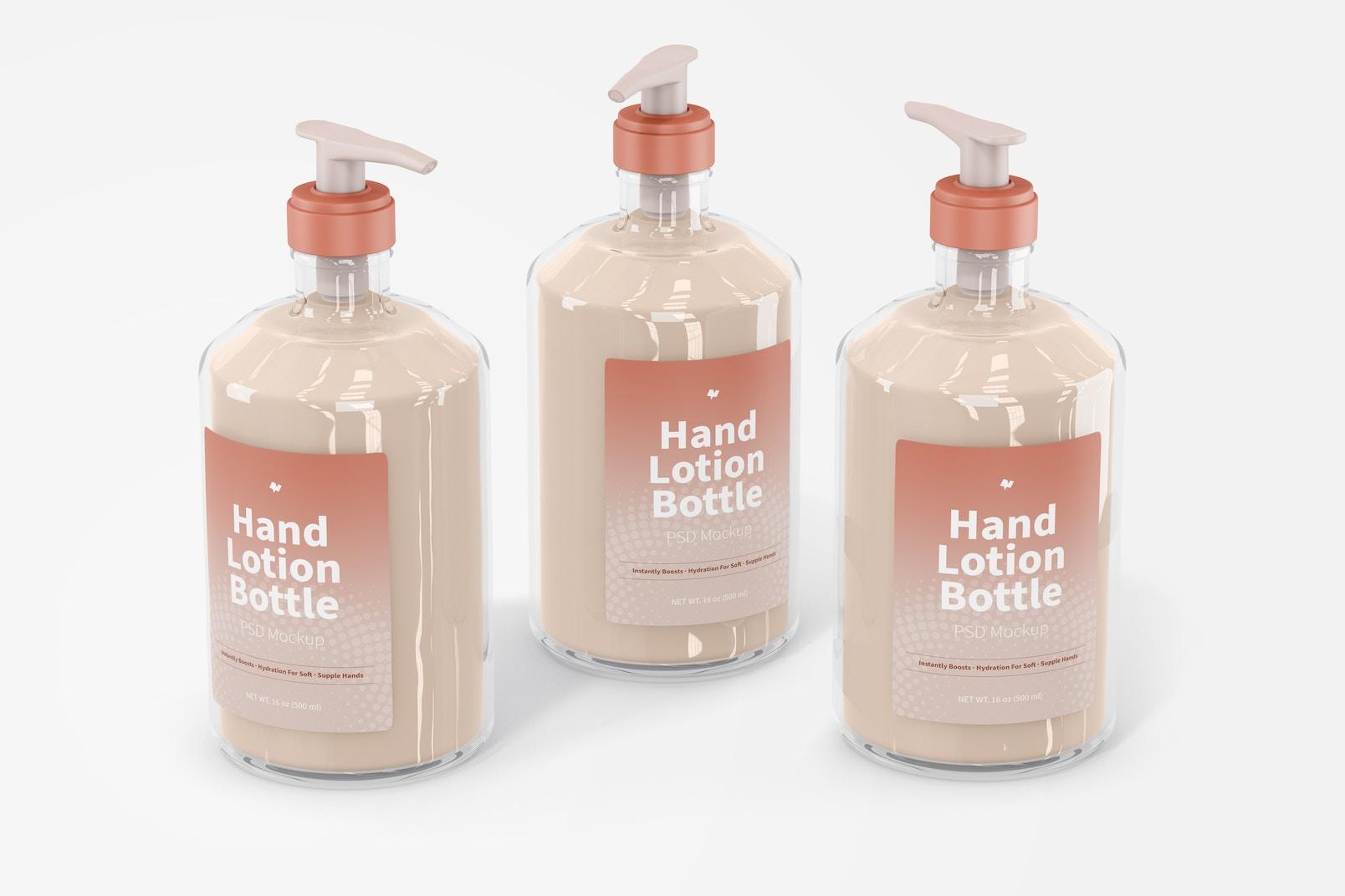 500 ml Hand Lotion Bottles Mockup