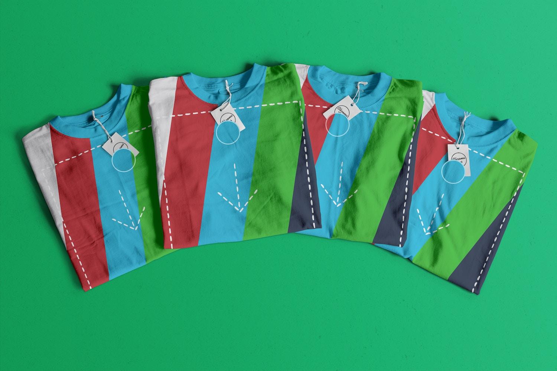 Folded T-Shirts Mockup 03 (2) por Antonio Padilla en Original Mockups