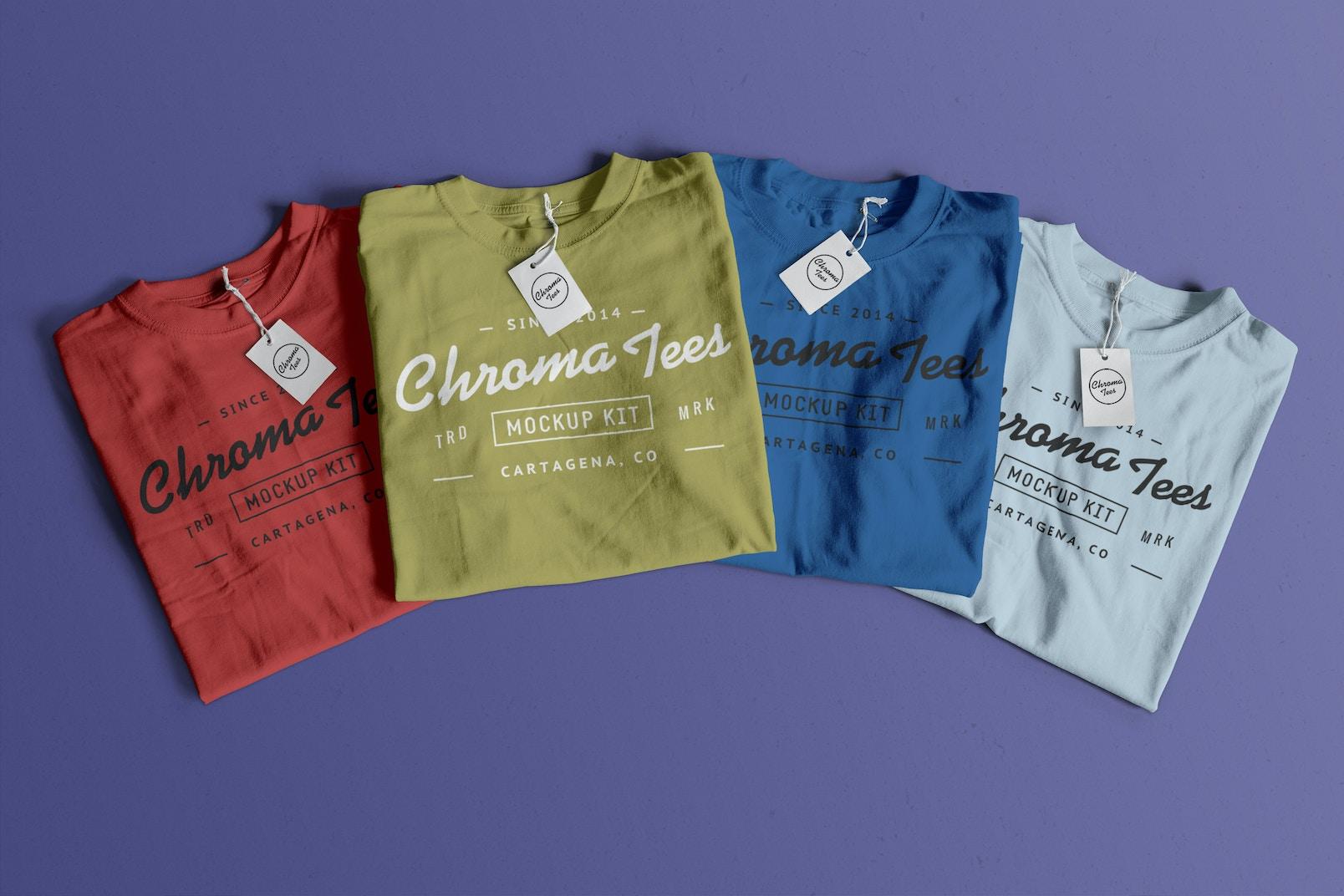 Folded T-Shirts Mockup 03