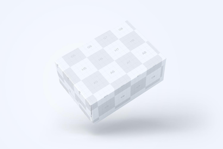 Soap Bar and Paper Box Mockup, Floating