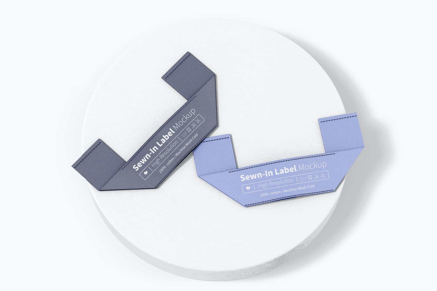 Sewn-In Label Mockup, Top View