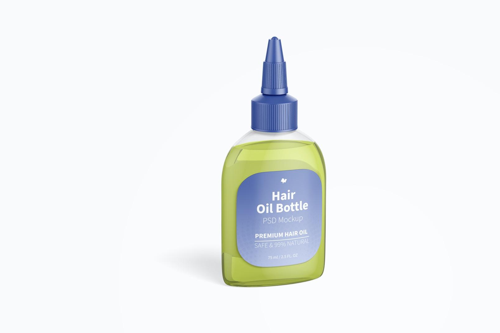 Hair Oil Bottle Mockup