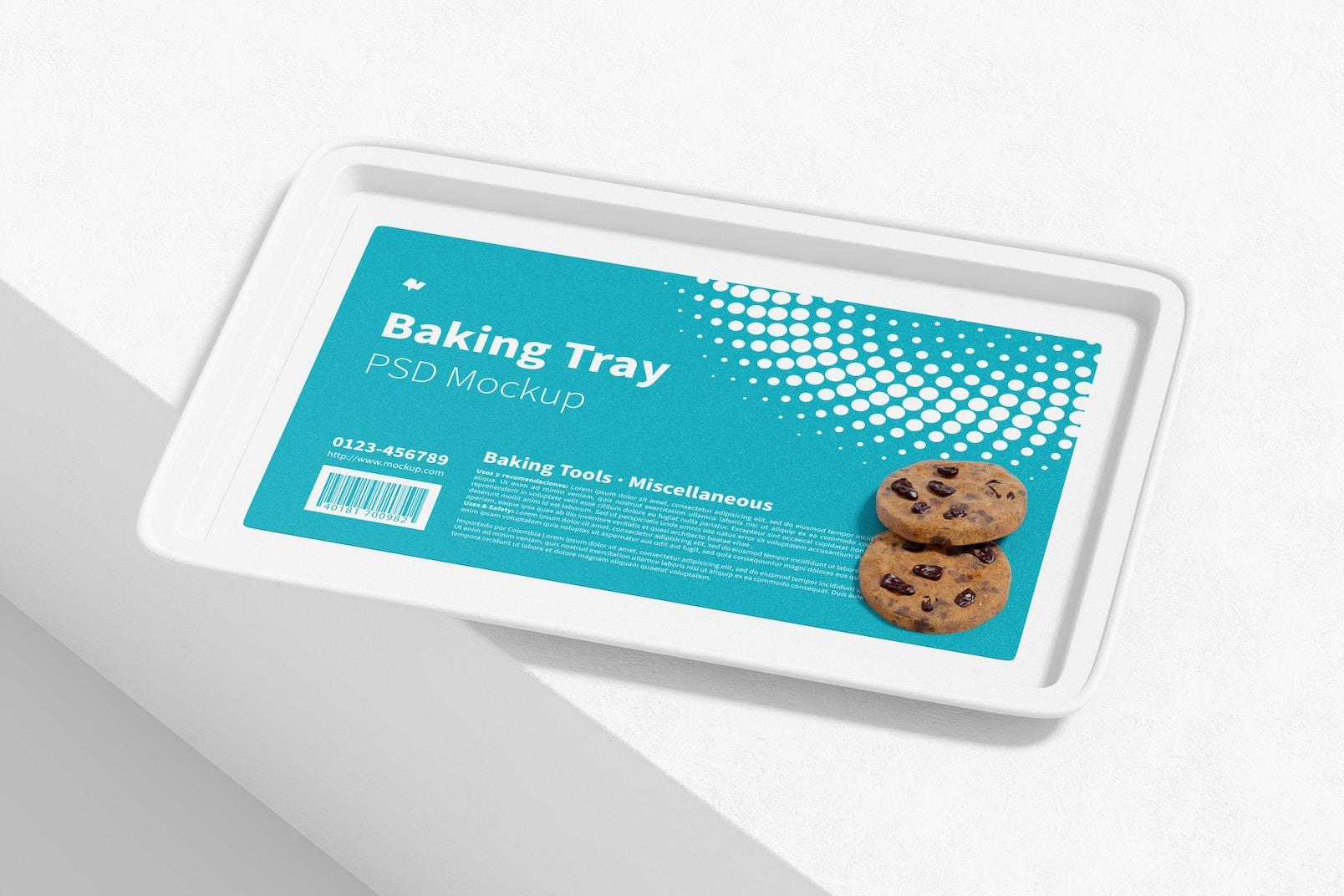 Baking Tray Mockup, Perspective View