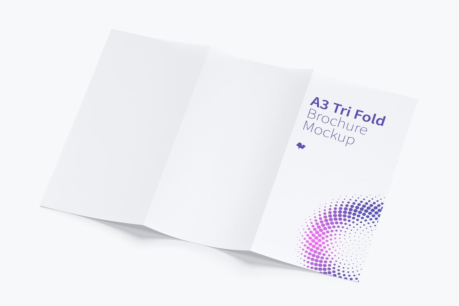 A3 Trifold Brochure Mockup 02