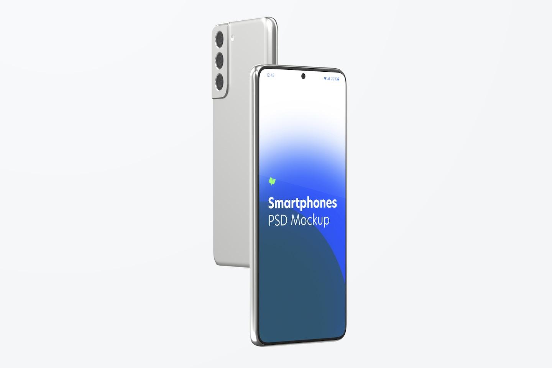 Maqueta de Samsung S21, Vista Frontal y Trasera 02