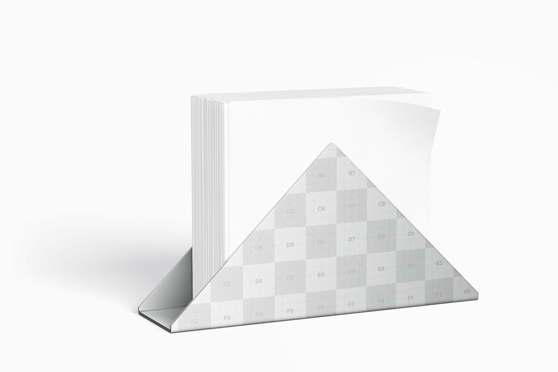 Napkin Holder Mockup, Perspective View