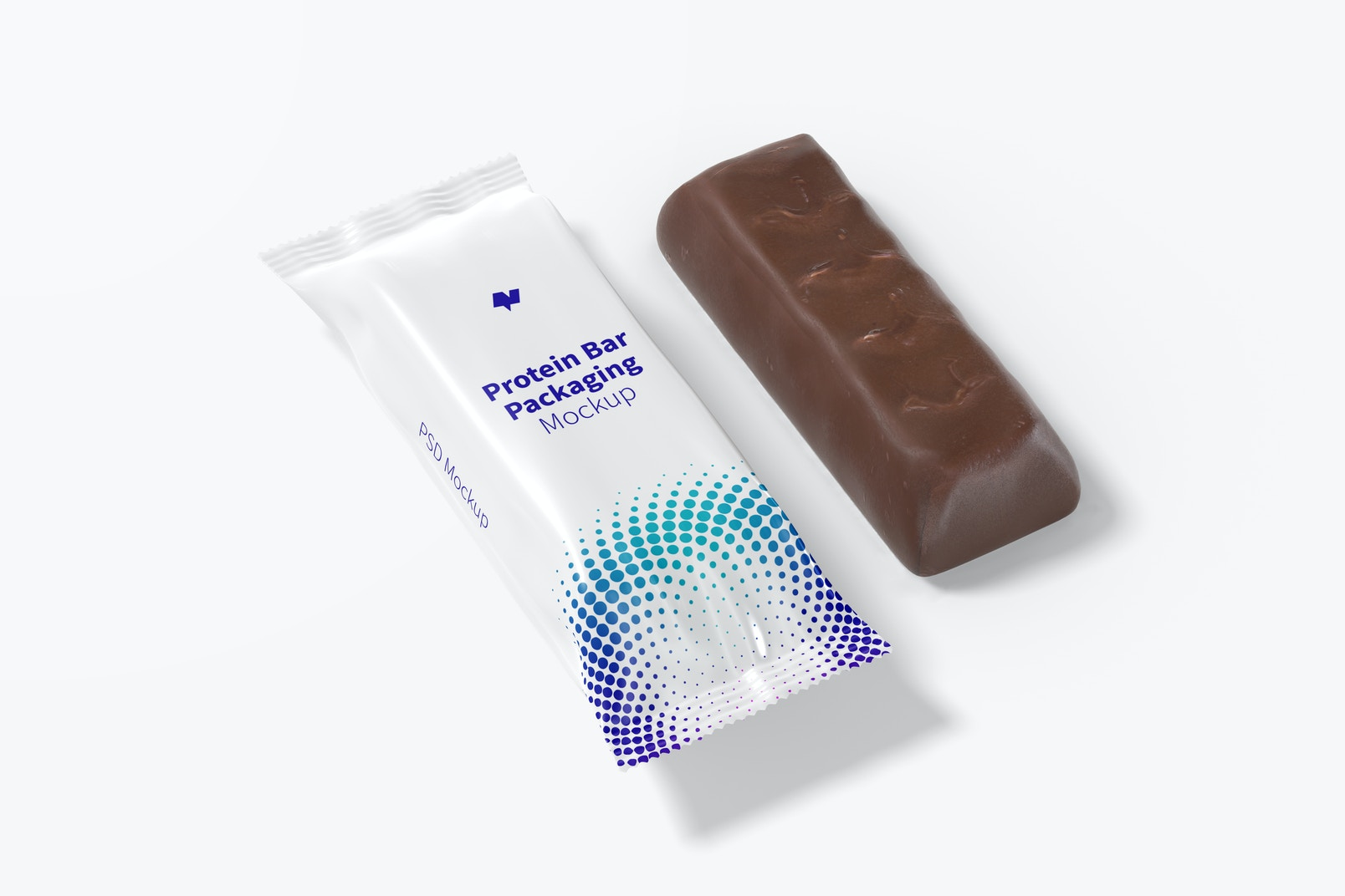 Protein Bar Packaging Mockup, Left View