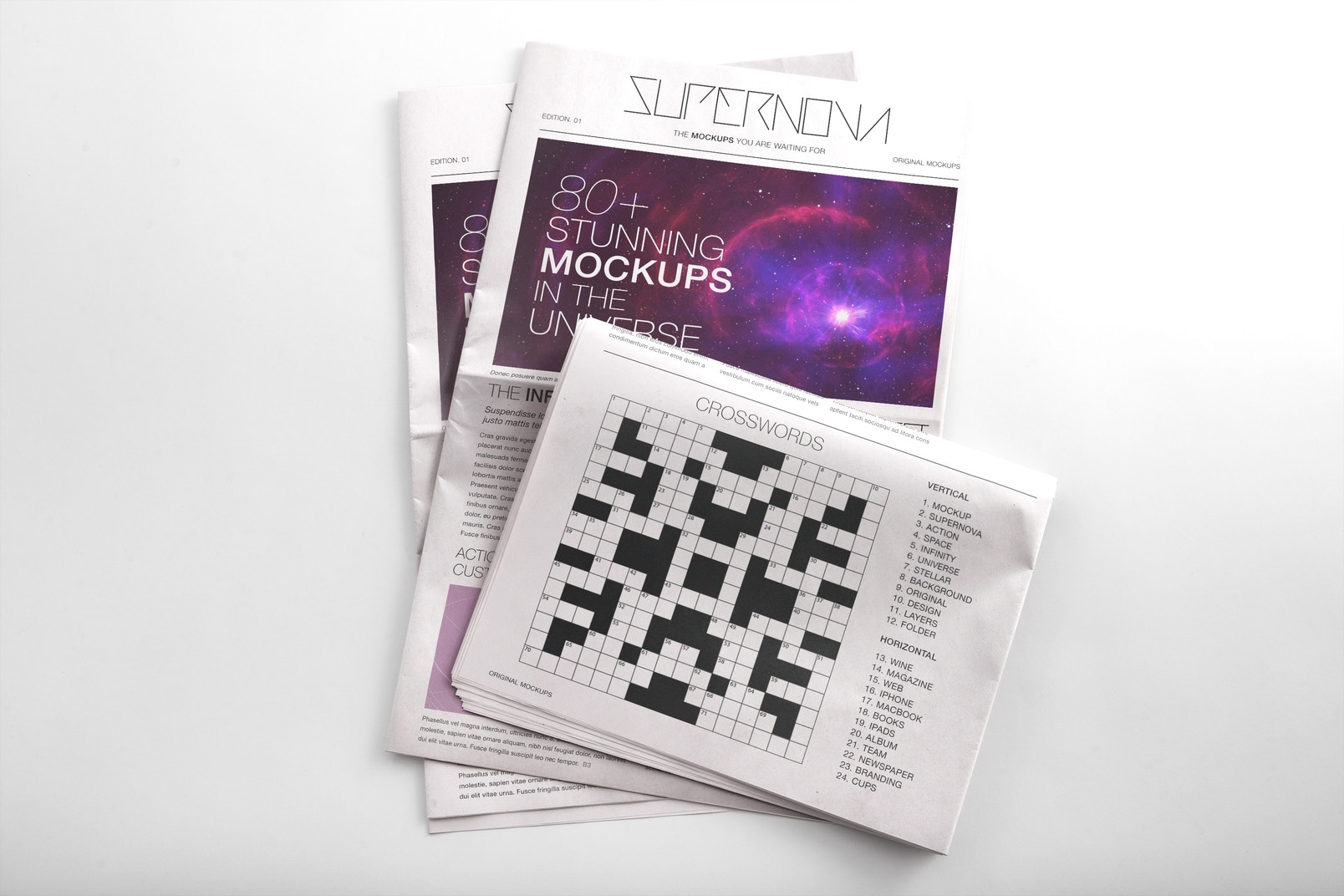 Newspaper PSD Mockup 06