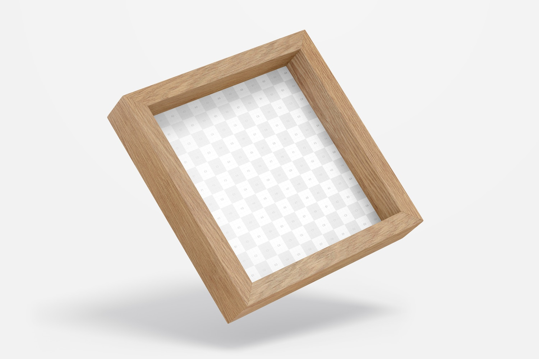 1:1 Box Photo Frame Mockup, Floating