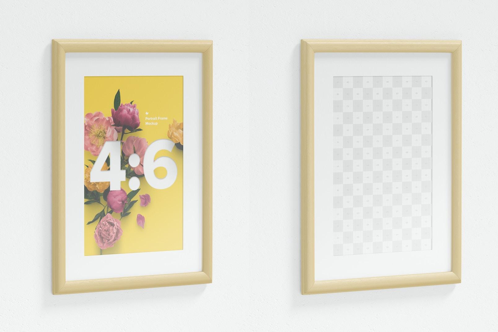 4:6 Portrait Frame Mockup, Left View