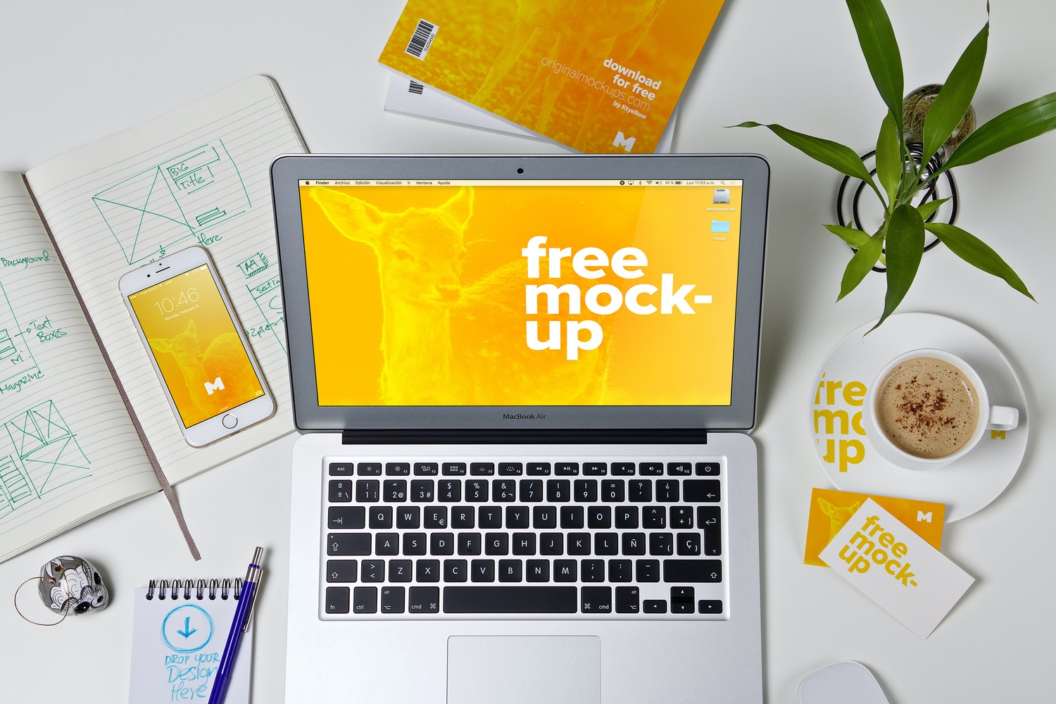 Workspace Mockup 01 by Ktyellow  on Original Mockups