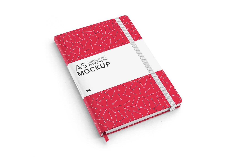 A5 Hardcover Notebook Mockup 01 by Original Mockups on Original Mockups