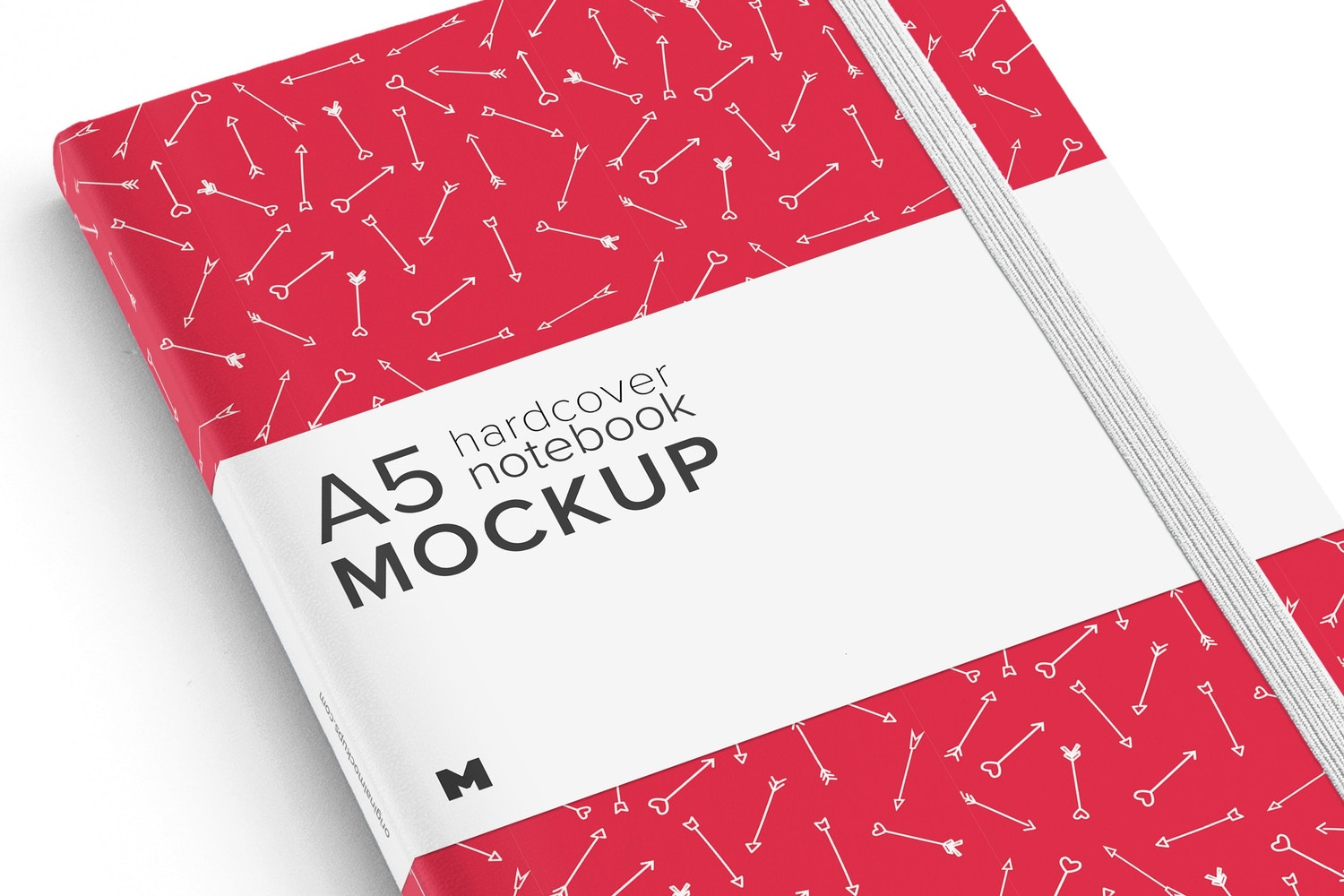 A5 Hardcover Notebook Mockup 01