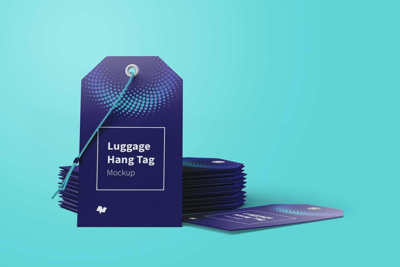 Luggage Hang Tags Mockup with String