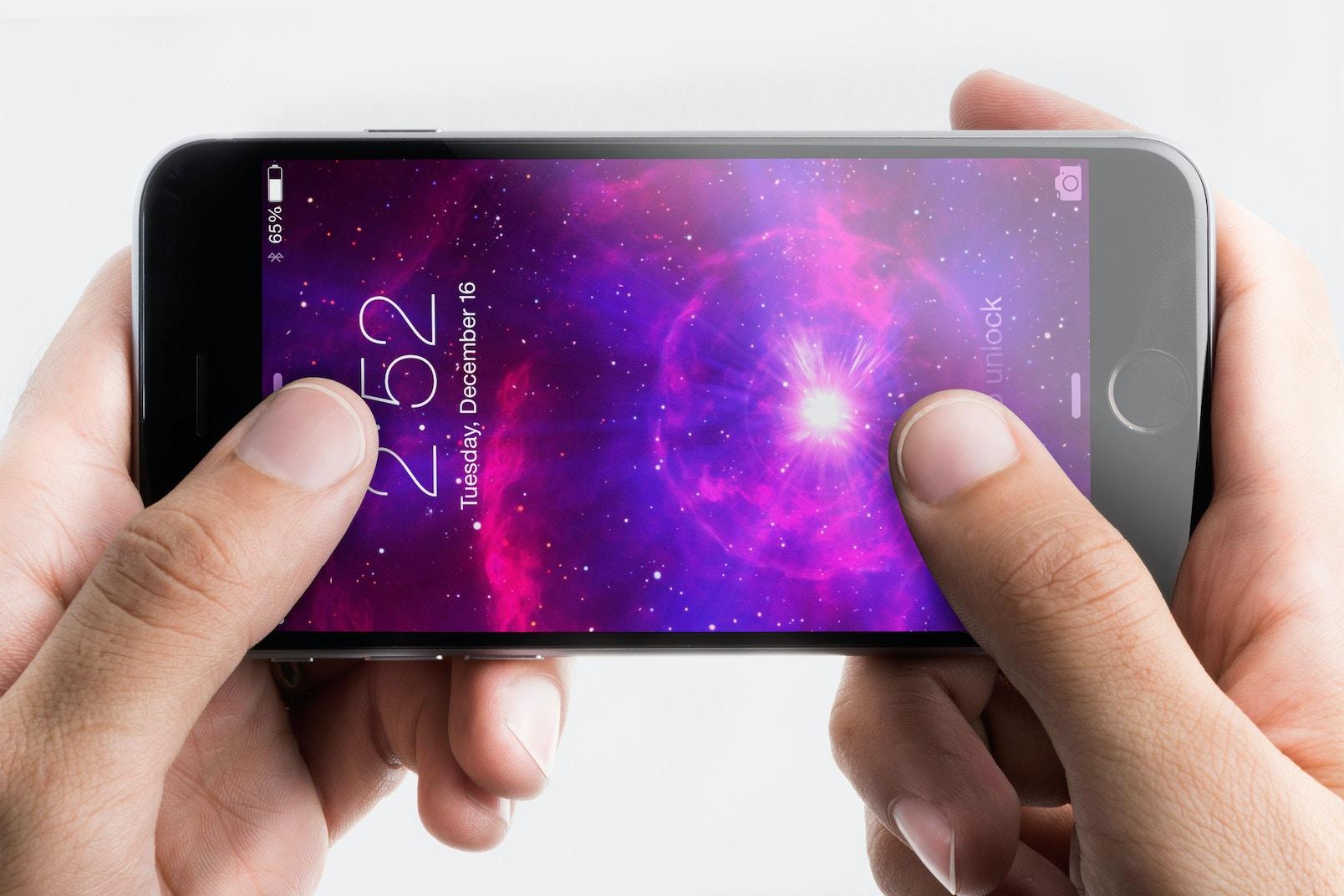 Iphone 6 Spacegray PSD Mockup 06