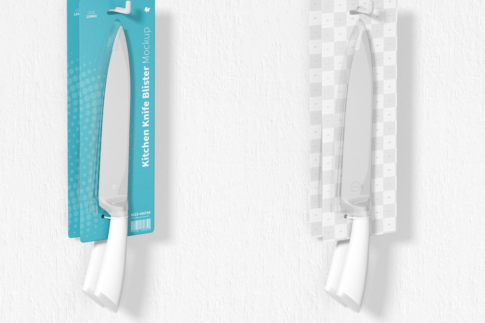 Kitchen Knives Blister Mockup