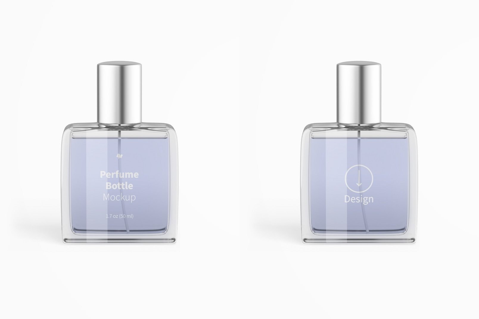 Perfume Bottle Mockup, Front View