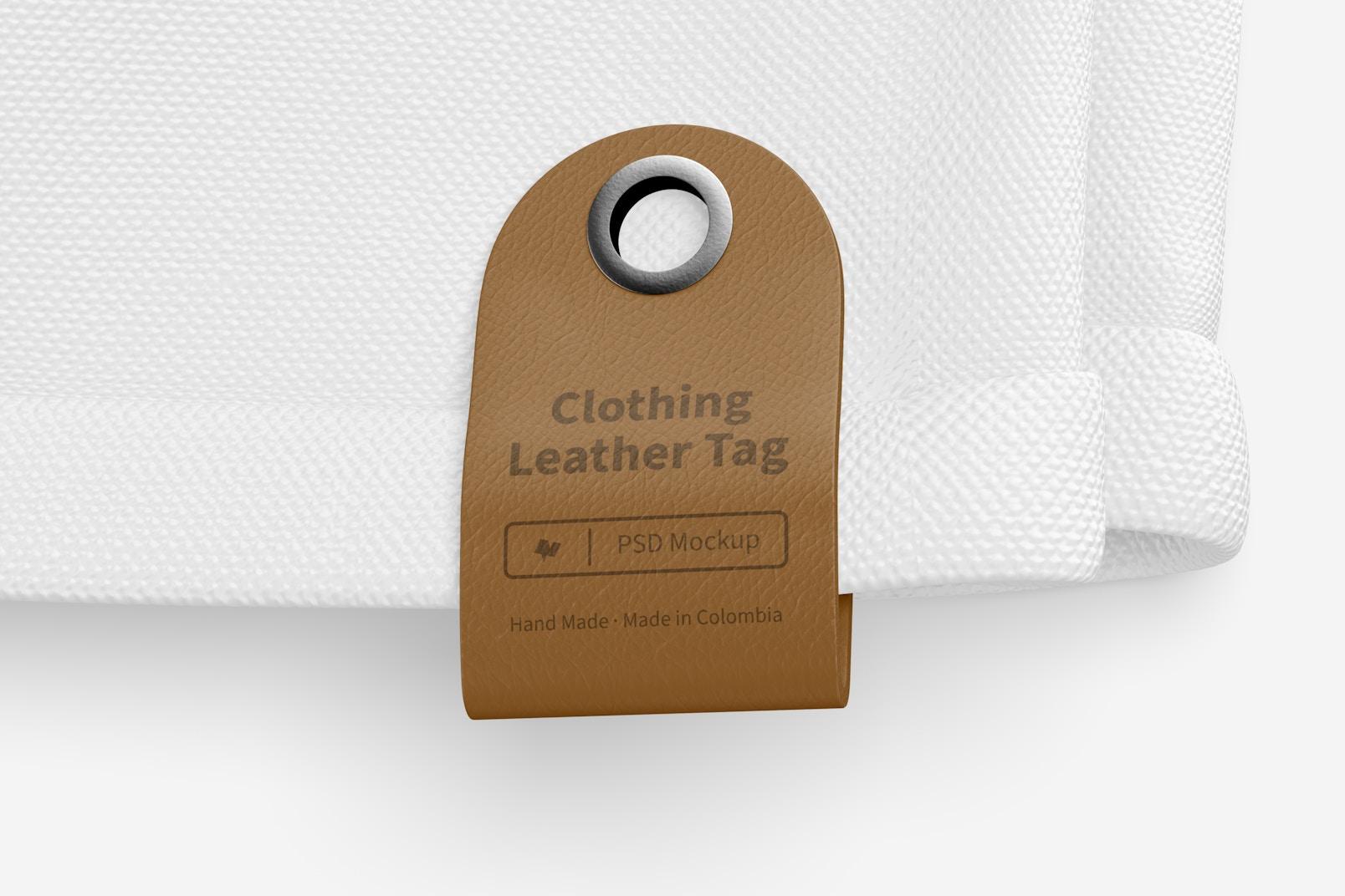 Clothing Leather Tag Mockup 02