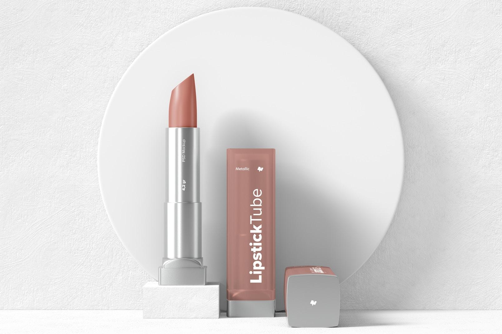 Metallic Lipstick Tubes Mockup