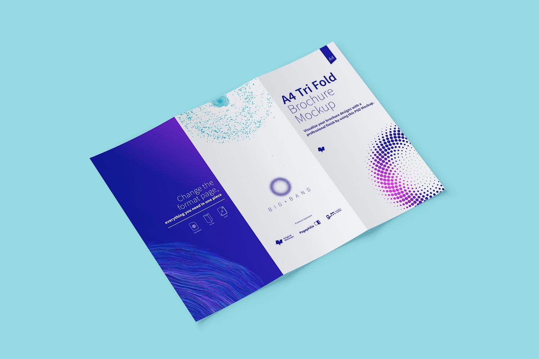 A4 Trifold Brochure Mockup 02 (4) by Original Mockups on Original Mockups
