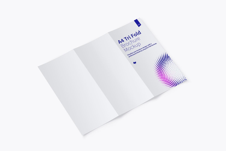 A4 Trifold Brochure Mockup 02 by Original Mockups on Original Mockups