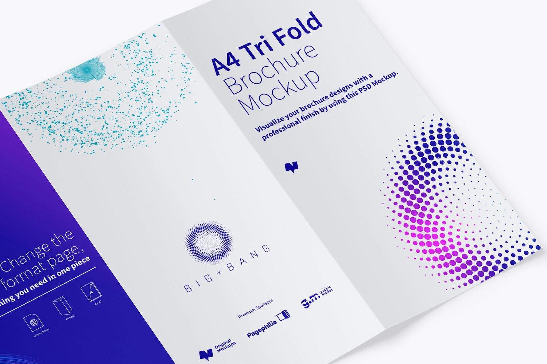A4 Trifold Brochure Mockup 02 (3) by Original Mockups on Original Mockups