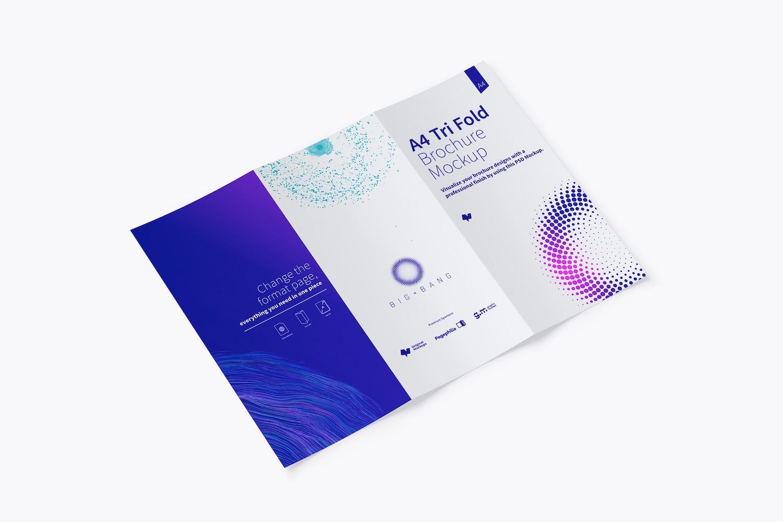 A4 Trifold Brochure Mockup 02 (1) by Original Mockups on Original Mockups