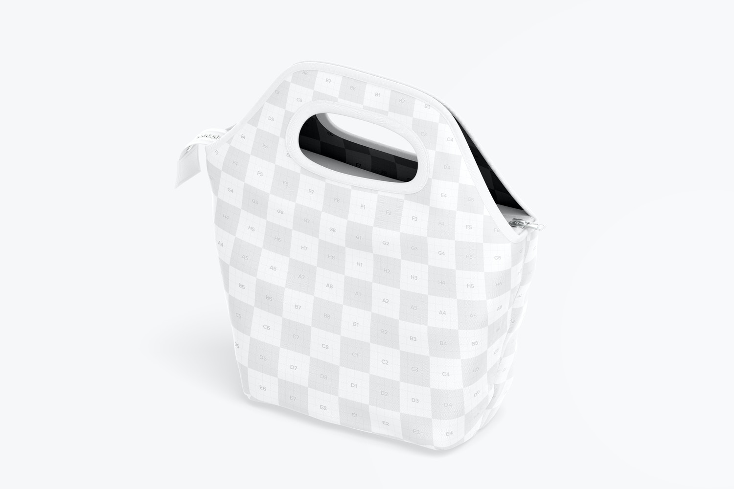 Lunch Bag Mockup, Isometric Left View